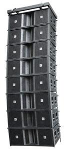 coverage passive line array loudspeakers elements