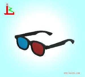 plastic cyan 3d glassess