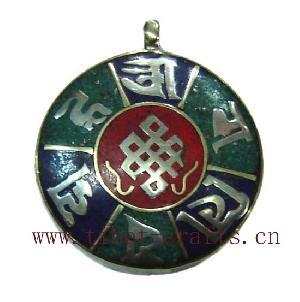 tibetan letter pendant