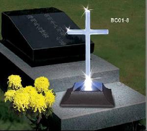 led crossed cemetery lamp
