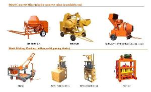 block machine concrete mixer