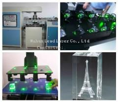 crystal 3d 2d laser engraving machine