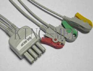 nihon kohden br 903p 3 ecg leadwire clip