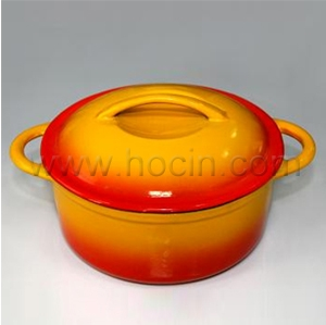 enameled cast iron covered casserole
