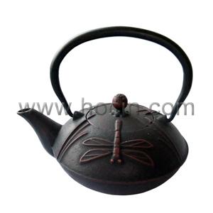 0 7 liter cast iron teapot dragonfly pattern