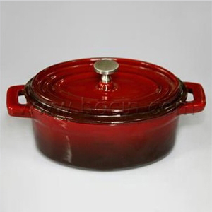 oval mini cast iron casserole lid deep