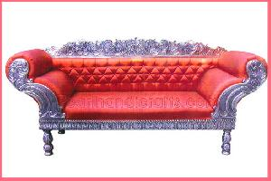 silver metal brass bone minakari teak furniture