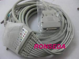 mortara instrument eli 100 200 50 ecg cable 10 leads aha iec