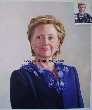 oil painting portrait hillary clinton portraits