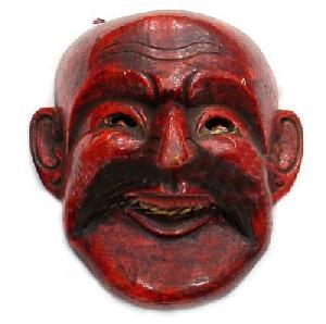 handmade tibetan mask lama wooden