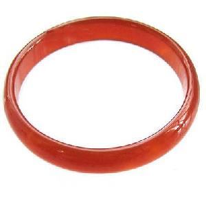 round blood jade bangle