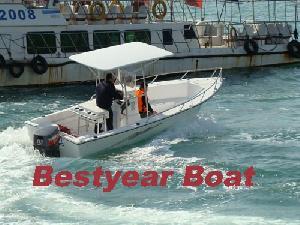 fiberglass fishing boat