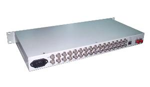 64 channels bnc fiber video transmitter receiver