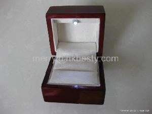 solid wood led light jewelry boxes