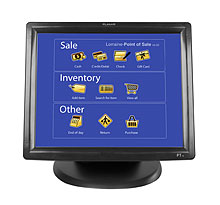 17 resistive touch screen lcd monitor