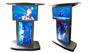 32inch 42inch dual screen floor standing digital lcd advertising display