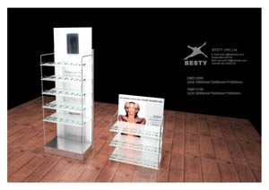 display showcase cosmetic stands
