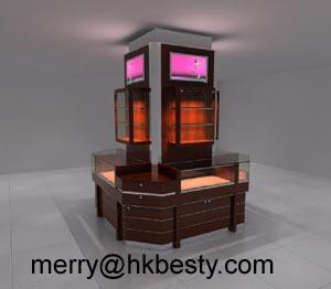 jewelry koisk display showcases led lights
