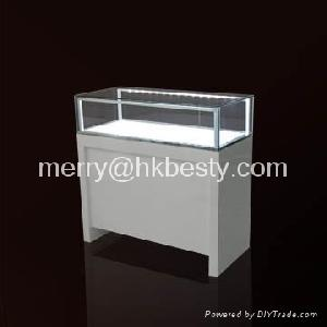 led light tempered glass jewellery display showcase cabinet exhibition
