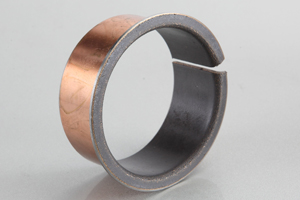 ptfe teflon coated bearing plain steel bushing journal flanged du bushes