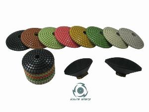 convex polishing pads