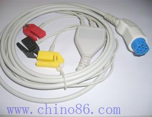 artema s y w una de tres piezas cable ecg con derivaciones