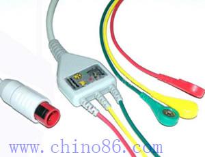 bionet una de tres piezas plomo cable ecg y derivaciones