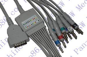 ge marquette una pieza cable de ecg 10 derivaciones con