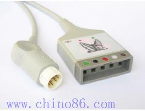 hp aa cinco pacientes llevan monitor de ecg cable troncal