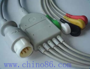 hp cinco pacientes desfibrilaci�n llevar el cable del monitor ecg y derivaciones