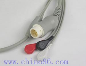 hp philips un paciente de tres piezas plomo monitor ecg por cable y conductor