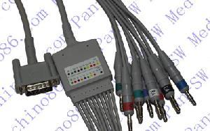 hp una sola pieza de ecg 10 derivaciones por cable con