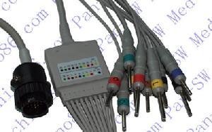 kanz una sola pieza de ecg 10 derivaciones por cable con