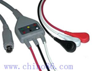 mek una de tres piezas cable ecg con derivaciones