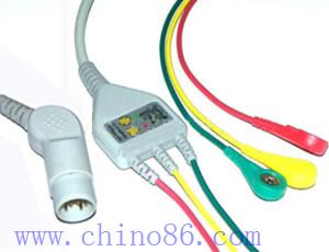 mennen una de tres piezas cable ecg con derivaciones