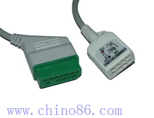 nihon kohden jc 906p six ecg trunk cable