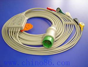spacelabs una moneda de cinco cable ecg con derivaciones