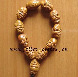 wood buddha bracelet