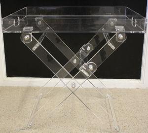 acrylic butler tray table