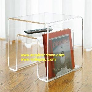 acrylic magazine table