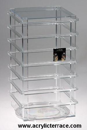 Acrylic Revolving Earring Card Display Rack