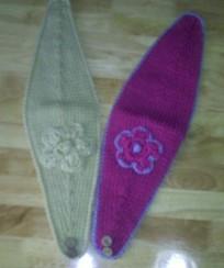 knit headwrap flower hand