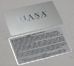 stainless steel card