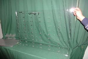 acrylic wall mounted eyeglasses display stand