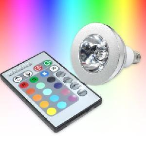 5w e27 remote control rgb led bulb