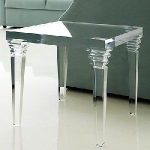 Crystal acrylic side console table acrylic coffee - Table de salon plexiglass ...