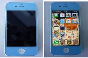 iphone 4 lcd front assembly blue colour inckuding display touch screen digitizer
