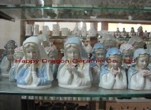 Ceramic Virgin Mary Statues, Figurines, Nativity Figurines, Christian Religious Crafts