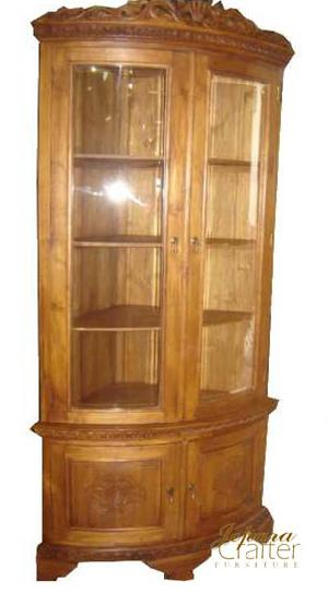 Teak Corner Cabinet Carved - page 1 - Products Photo Catalog ...