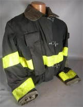 snap front fire resistant firemans coats stock 3306 182